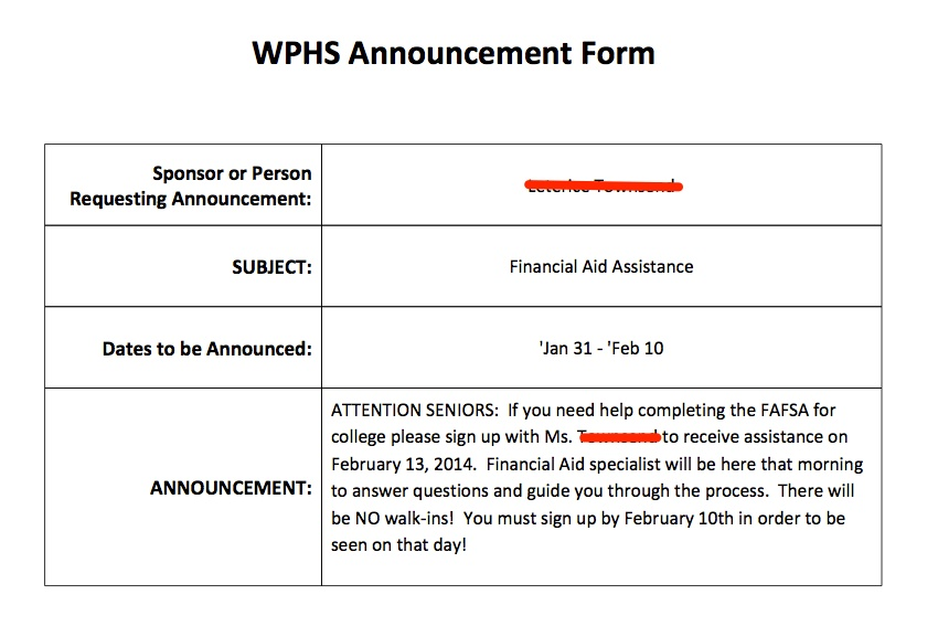 Using Google Scripts to Submit Announcements var blogTitle – Sponsored Walk Form Template